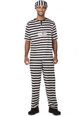 Disfraz de Preso con Número para hombre