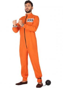 Disfraz de Preso Naranja para hombre