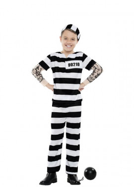 Disfraz de Preso Tattoo para niño