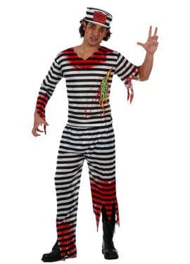 Disfraz de Preso Zombie para hombre