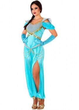 Disfraz de Princesa Árabe Azul para mujer