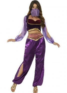 Disfraz de Princesa Árabe Morada para mujer