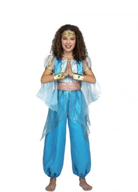 Disfraz de Princesa Árabe Turquesa para niña