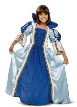 Disfraz de Princesa Azul para niña