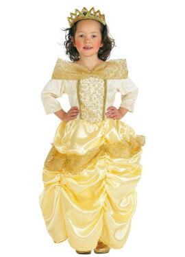 Disfraz de Princesa de cuento amarillo para niña