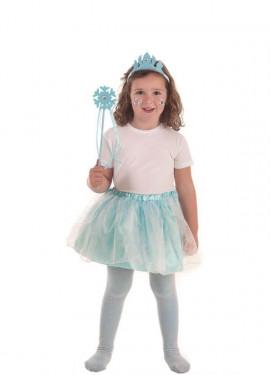 Disfraz de Princesa del Hielo Azul para niña