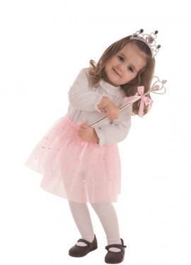 Disfraz de Princesa del Hielo Rosa para niña