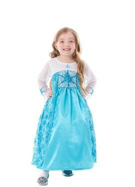 Disfraz de Princesa del Hielo Satén para niña