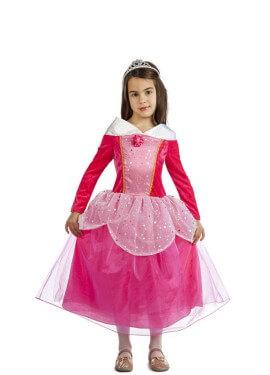 Disfraz de Princesa Fucsia de cuento para niña
