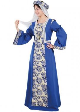 Disfraz de Princesa Medieval Azul para mujer