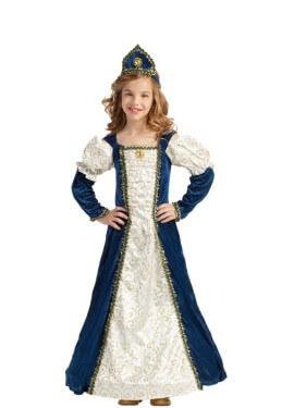 Disfraz de Princesa Medieval Azul para niña