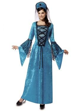 Déguisement Princesse Médiévale Blue pour femme