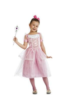 Disfraz de Princesa Rosa Claro para niña