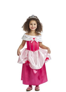 Disfraz de Princesa Rosa de cuento para niña