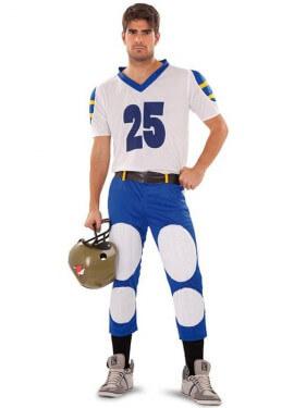 Disfraz de Quarterback o Jugador Rugby para hombre