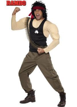 Disfraz de Rambo musculoso para hombre talla M
