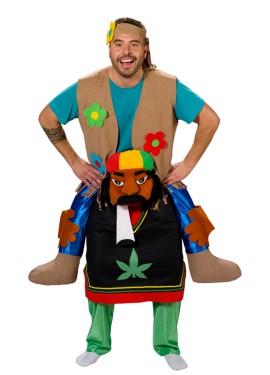 Déguisement Rasta portant un Hippie pour adulte