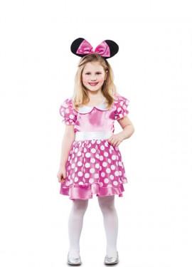 Costume da topo rosa per bambina