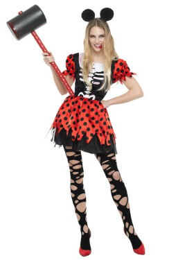 Disfraz de Ratoncita Zombie para mujer