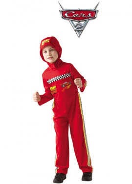 Disfraz de Rayo Mcqueen Classic de Cars 2 para niño
