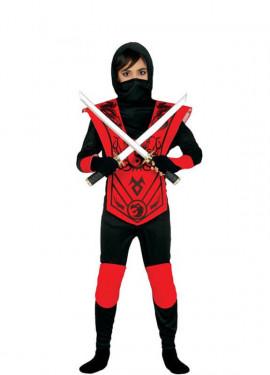 Disfraz de Red Ninja varias tallas