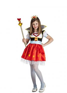 Disfraz de Reina de Corazones para niña