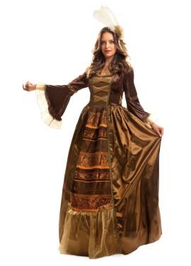 Disfraz de Reina del Renacimiento de lujo para mujer