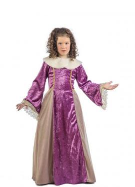 Déguisement Reine médiévale Leonor pour fille