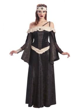 Disfraz de Reina Medieval oscura para mujer