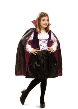 Disfraz de Reina Vampira con capa para niña