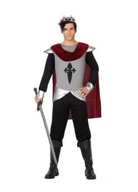 Disfraz de Rey cruzado medieval para hombres