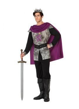 Disfraz de Rey guerrero medieval para hombres