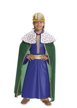Disfraz de Rey Mago Azul para bebé