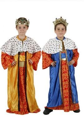 Disfraz de Rey Mago para niños en colores diferentes y tallas para Navidad