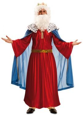 Disfraz de Rey Mago Rojo para hombre