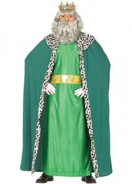 Déguisement de Roi Mage Vert pour homme