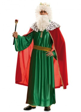 Costume di re mago verde per l'uomo