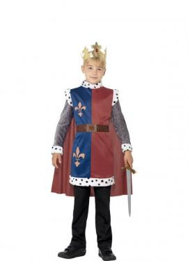 Costume da re medievale per un bambino