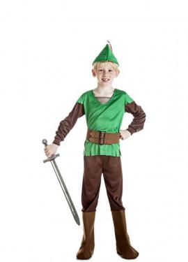 Disfraz de Robin Hood verde y marrón para niño