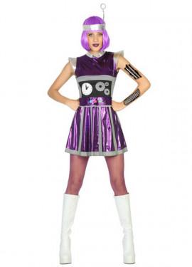 Costume robot per una donna