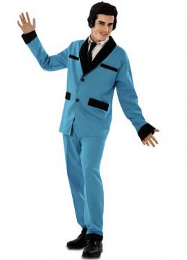 Disfraz de Rockabilly azul para hombre