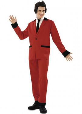 Disfraz de Rockabilly rojo para hombre