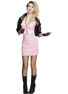 Disfraz de Rockera de Los 80 para mujer