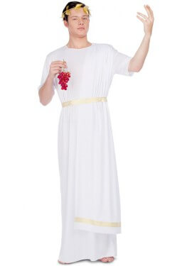 Disfraz de Emperador Romano Blanco para hombre