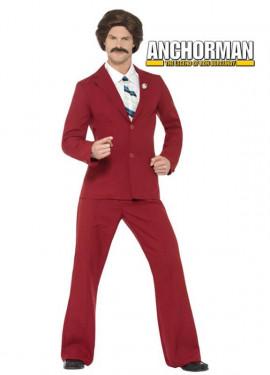 Disfraz de Ron Burgundy de Anchorman para hombre