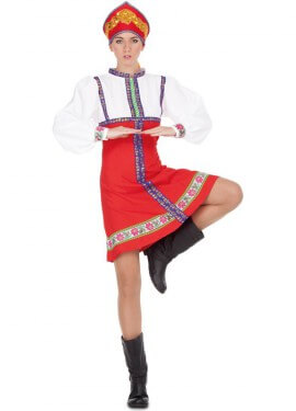 Disfraz de Rusa Clásica para mujer