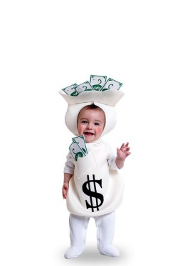 Disfraz de Saca de dinero para bebé