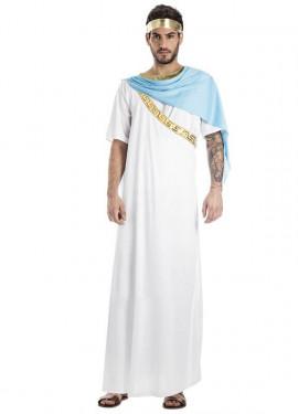 Disfraz de Sacerdote Griego Blanco para hombre