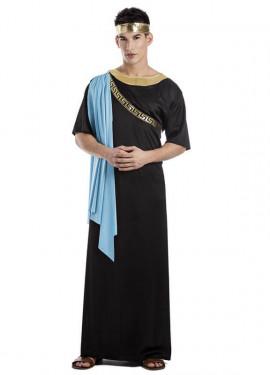 Disfraz de Sacerdote Griego Negro para hombre