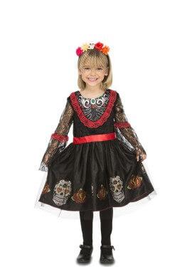 Disfraz de Señorita Día de los Muertos para niña